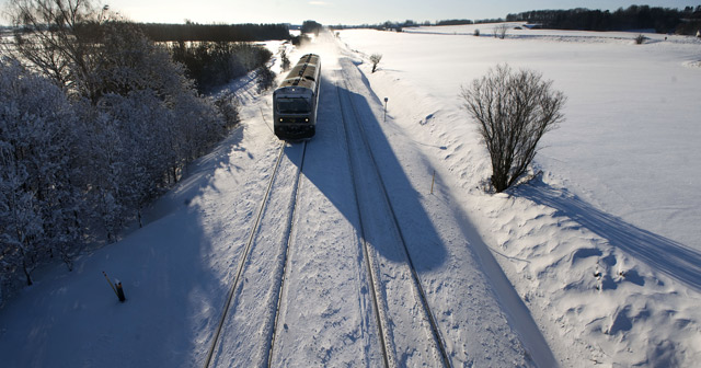 Commuters greeted by train information outage on snowy morning in Denmark