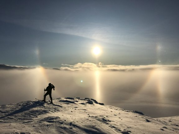 In pictures: Magical sun halo lights up sky in northern Sweden