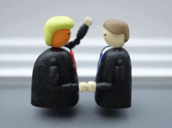 How this Trump handshake animation forced its creator to 'cancel almost everything'