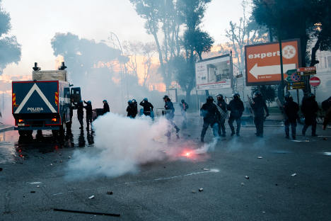Anti-far right clashes in Naples trigger political storm