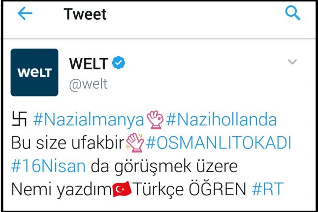 German media giant's account tweets out swastika in apparent Turkish hack