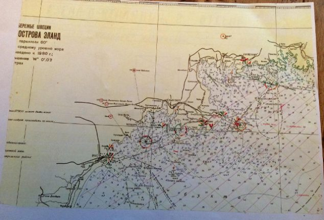 The curious case of this Cold War map of Sweden found on a Soviet sub