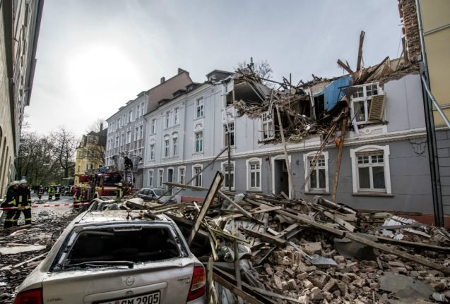 Explosion in family home in Dortmund rips apart block of flats