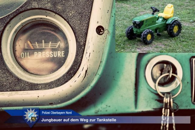 Police detain 5-year-old trying to tank up pedal tractor at gas station
