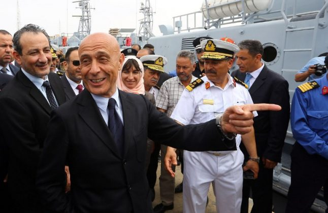 Italy gives Libya four patrol boats to help fight illegal immigration