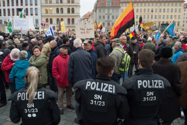 AfD and anti-Islam Pegida group hold side-by-side rallies for first time