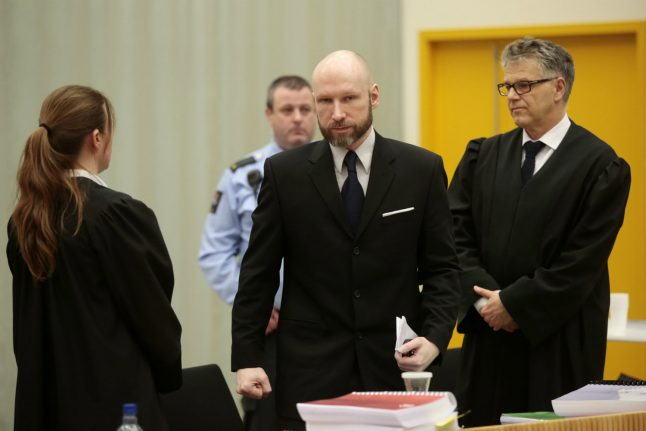 Rebuffed in Norway, Breivik takes case to European rights court
