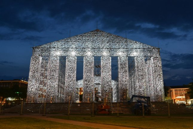 'Parthenon' made of books built at site of Nazi book burning