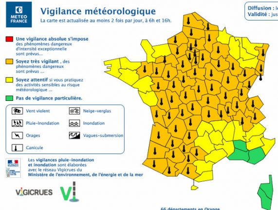 Heatwave update: France extends alerts to 66 departments