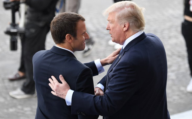 Trump on Macron: 'He loves holding my hand and that's good'