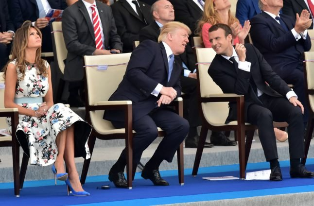 WATCH: French military band dazzles Macron, Trump with Daft Punk rendition