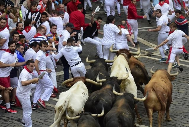 WATCH: Two gored in seventh bull run of Pamplona