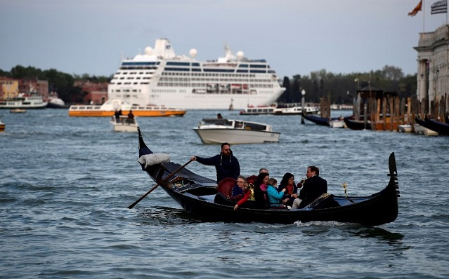 Venice's mayor says ministers have a plan to keep big ships out of the lagoon