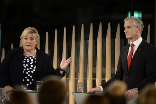 Labour leader Støre ramps up criticism of PM over nationalists in debate
