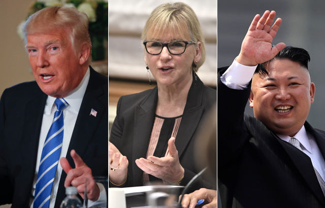 Sweden urges Donald Trump and Kim Jong Un to 'come to their senses'