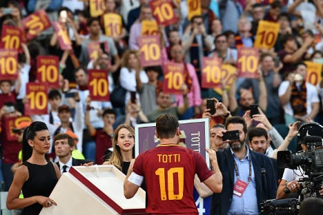 Out of this world! Roma legend Totti's final shirt launched into space