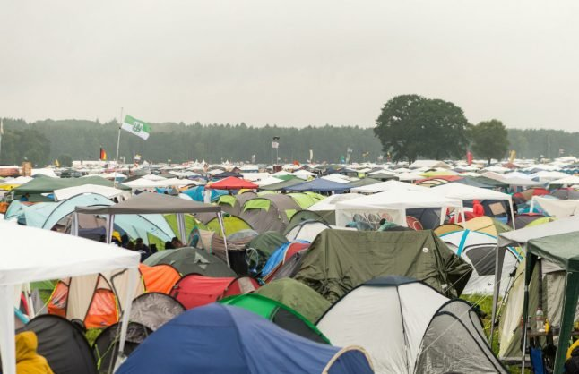 Man dies after bringing a BBQ into his tent at music festival
