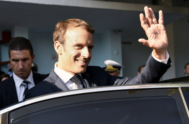 Macron faces big foreign policy week ahead as approval ratings slide