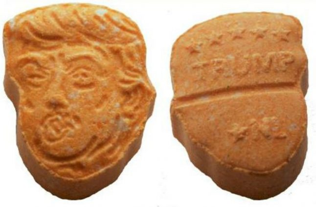 Huge stash of Trump-shaped ecstasy pills seized in north Germany
