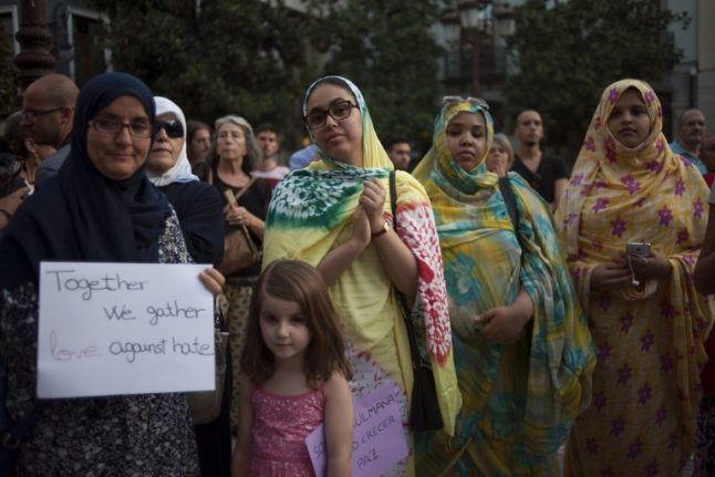 Muslims in Spain rally against terrorism after attacks