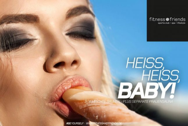 Gym ad branded 'most sexist in Germany' uses bad press for good cause