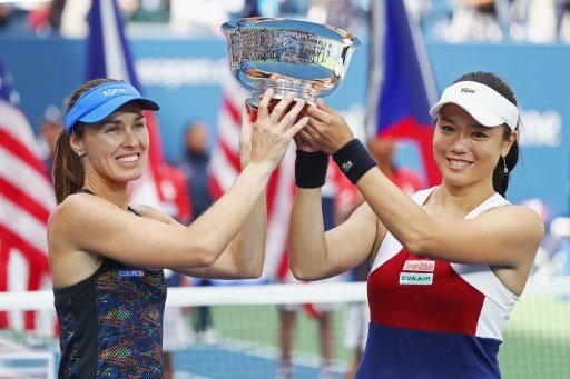 Swiss star Hingis wins two doubles titles in two days