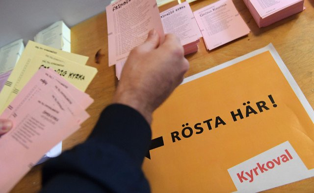 Sweden's church election sees highest turnout since 1950