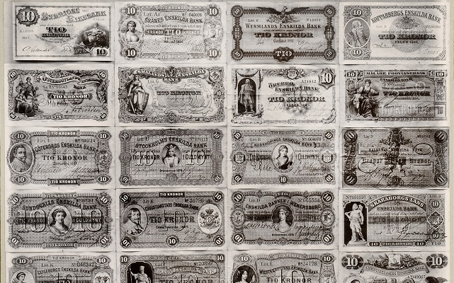 Here's what Sweden's banknotes looked like 100 years ago