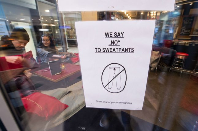 Stuttgart cafe stirs controversy by saying 'no' to sweatpants