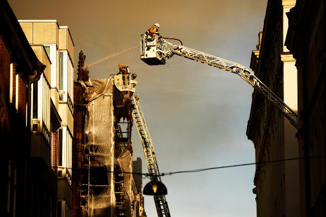 Large fire breaks out in central Stockholm