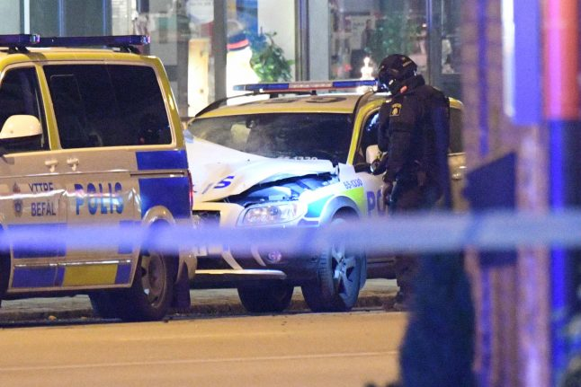 One arrested after police car explosion in Malmö