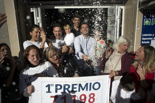 Nursing home workers win big in Spain's Christmas lottery