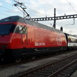 Swiss train derails after hitting block of ice