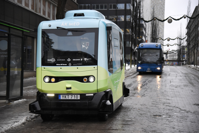 IN PICTURES: Sweden's first driverless buses hit the streets
