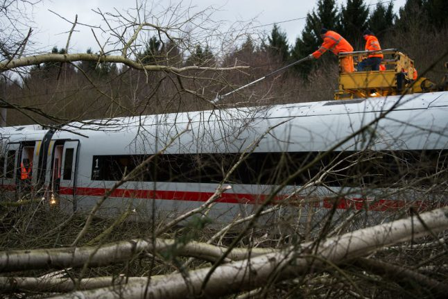 Long-distance trains cancelled across Germany until further notice due to hurricane