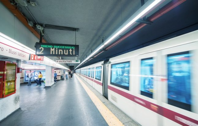 Woman hit by Rome metro train, might have been pushed