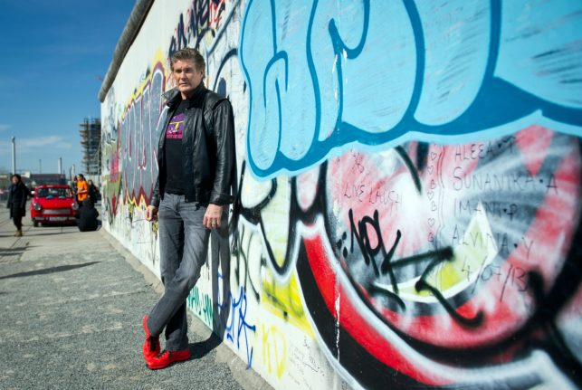 Hasselhoff says he never had anything to do with fall of Berlin Wall