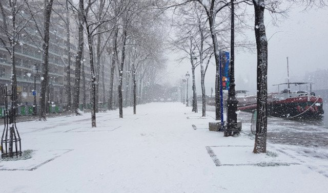 In Pictures: Snow falls over Paris as City of Light turns white