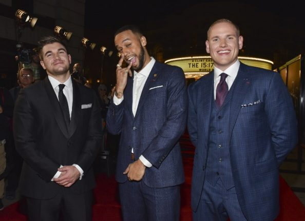 US train attack heroes return to Paris for Clint Eastwood film opening