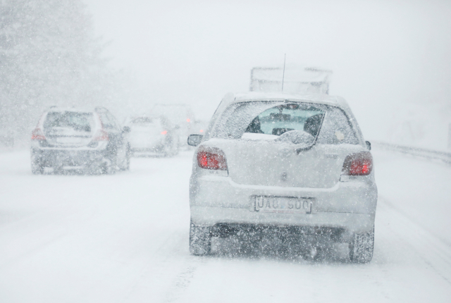 Traffic chaos as icy blast hits Sweden