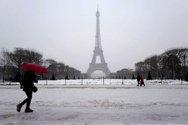 Paris region to be hit by fresh snowfall on Tuesday