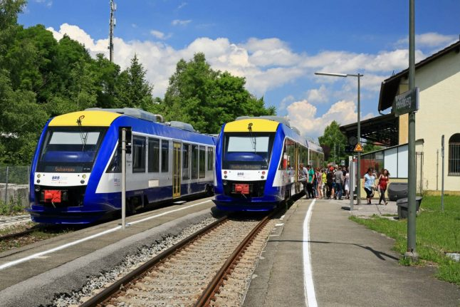 Train driver avoids head-on collision at station west of Munich