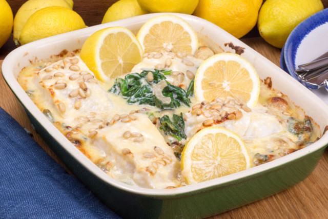 Recipe: Delicious Swedish baked cod with spinach