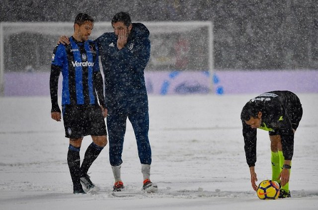 Juventus match snowed off as blizzard hits northern Italy
