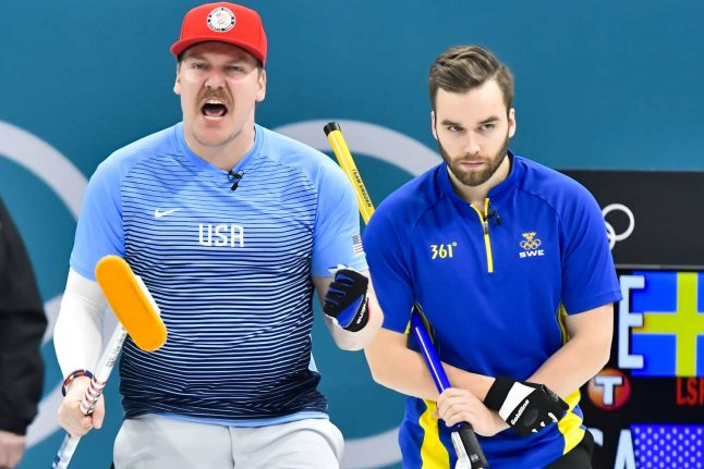 USA curlers celebrate after beating Sweden in Olympic final, despite medal mishap