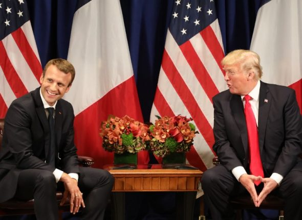 Macron accepts Trump's offer to visit US in April