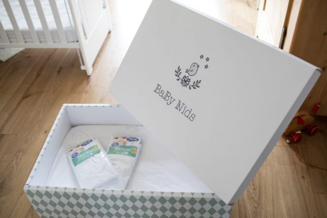 Here's why this cardboard baby box costs 269 Swiss francs