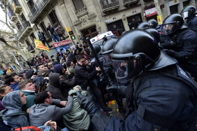 WATCH: Angry protest in Barcelona after ex-Catalan leader arrested