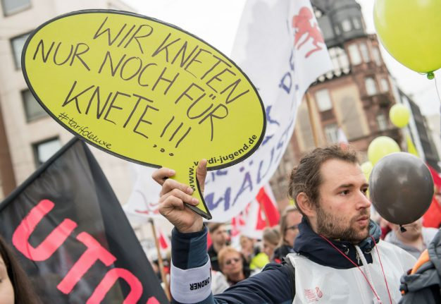 Here are the parts of Germany that will be hit by public service strikes this week