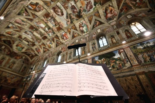 Vatican streams first live concert from Sistine Chapel